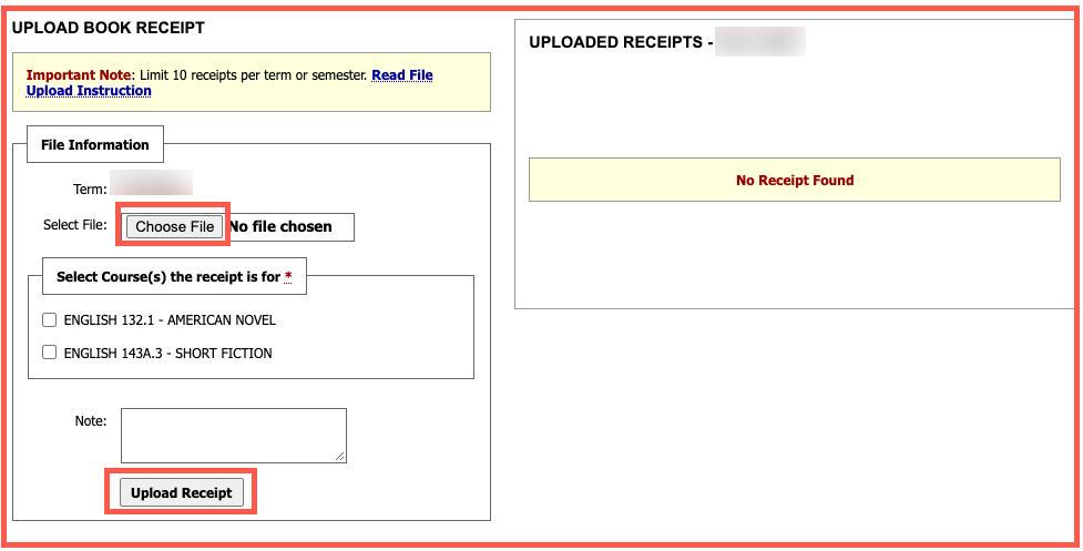 AIM - Upload Book Receipt.